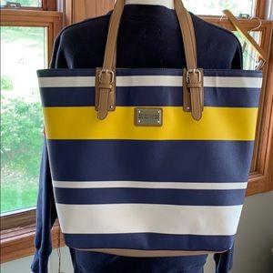 Handbags - Kenneth Cole blue striped tote